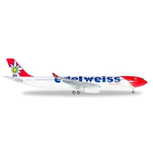 Herpa 200 Scale Commercial-Private HE558129 Edelweiss A330-300, 1-200 872E22584674CF93