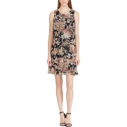 American Living Womens Tyree Sleeveless Floral Casual Dress