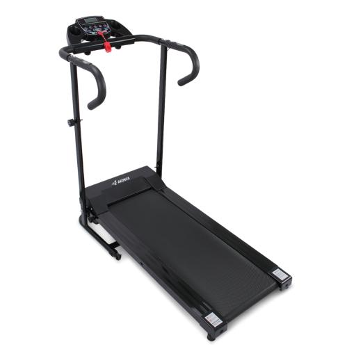 AKONZA 1100W Electric Folding Treadmill Motorized Fitness Machine Built-in Cup Holder