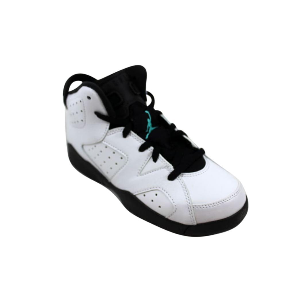 brand new b84a1 89e2a Nike Nike Air Jordan VI 6 Retro BP White White-Hyper Jade-Black 384666-122    massgenie.com