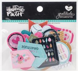 Illustrated Faith Gratitude Documented Designer Clips 16/pkg-