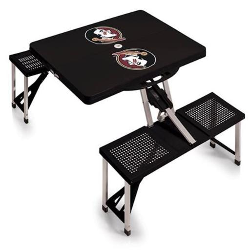 Picnic Time 811-00-175-174-0 Florida State Seminoles - Portable Picnic Table, Black