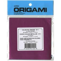 "Origami Paper 4.5""X4.5"" 36 Sheets Assorted Foil"