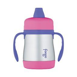 THERMOS FOOGO Vacuum Insulated 7 oz Sippy Cup w/ Handles  Pink/Purple BS500PK003