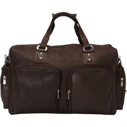 Piel Leather 3048 - CHC Multi - Pocket Carry - On - Chocolate