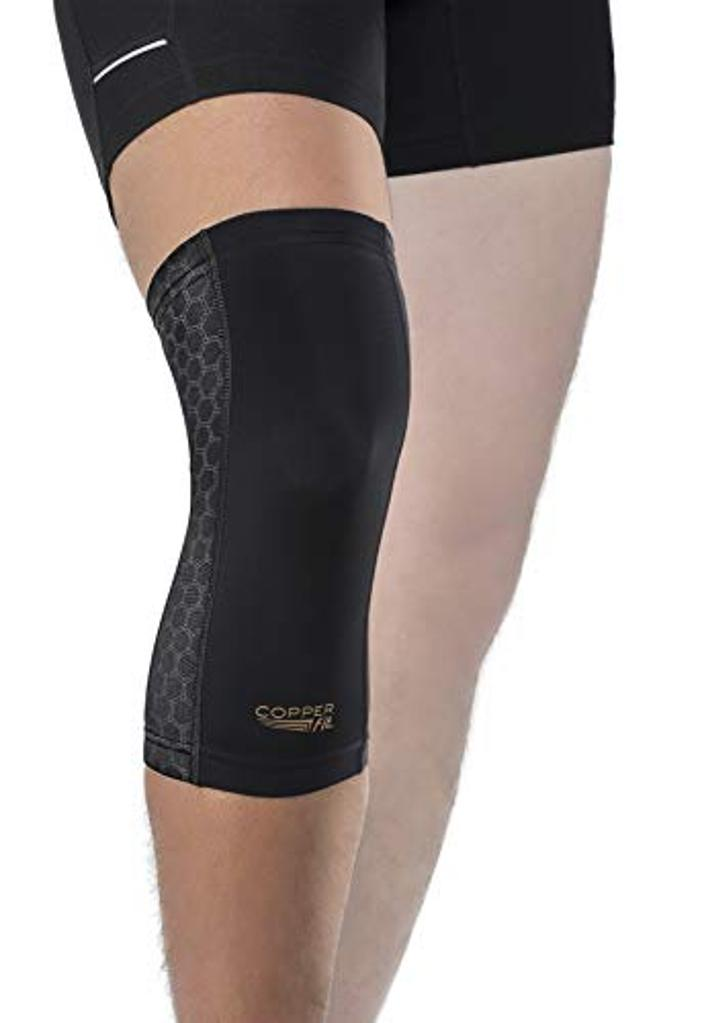 Copper Fit Unisex-Adult's Freedom Knee Compression Sleeve,, Black, Size Large