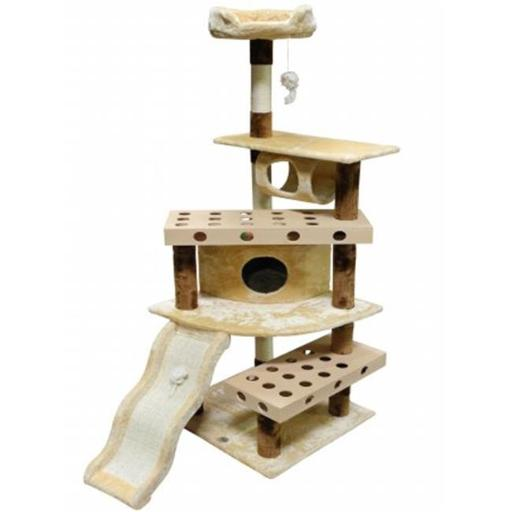 Go Pet Club SF054 IQ Busy Box Cat Tree House Toy Condo Pet Furniture, 40 W x 25 L x 70 H in.