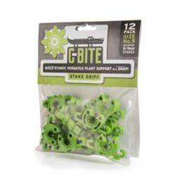 C-bite Cg9 No. 9 Small Plant Anchor & Stake Coupling Gardening Hardware, Green - Pack Of 12