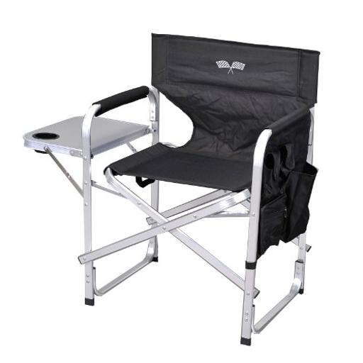 Deluxe Camping Chair Blk/Flag