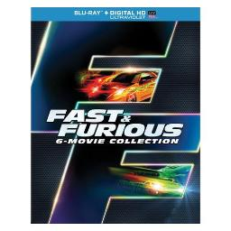 FAST & FURIOUS 6-MOVIE COLLECTION (BLU RAY W/DIG HD/UV/SNAP CASE/W/SLIPCASE 25192236259
