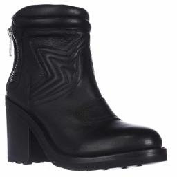 Ash Uno Ankle Boots, Black Leather