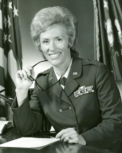 Major General Jeanne M Holm, the first female general of the US Air Force Poster Print by Stocktrek Images