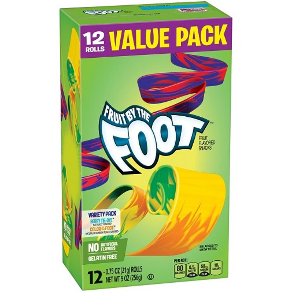 Betty Crocker Fruit By The Foot Berry Tie-Dye and Color by the Foot Value Pack