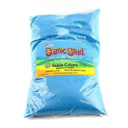 Scenic Sand 4555 Activa 5 lbs Bag of Colored Sand, Light Blue