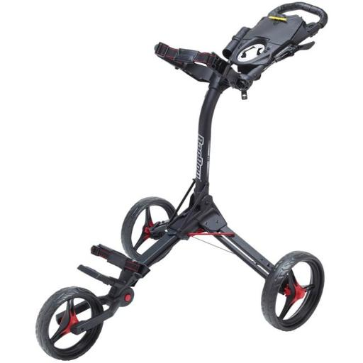 Bag Boy BB71601 Compact 3 Push Cart- Matte Black & Red