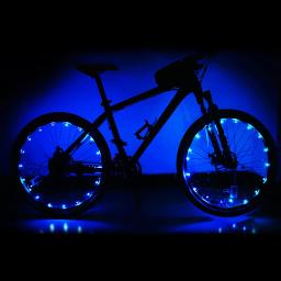 Yescom Bright LED Bike Wheel Light Auto Open and Close Bicycle Wheel Spoke Light String Blue