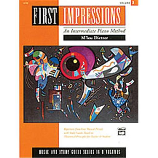 Alfred 00-14732 First Impressions- Music and Study Guides- Volume 3 - Music Book