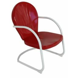 Jack Post BH-20CR Red Retro Chair, 27.25 x 22.5 x 35.25 in.