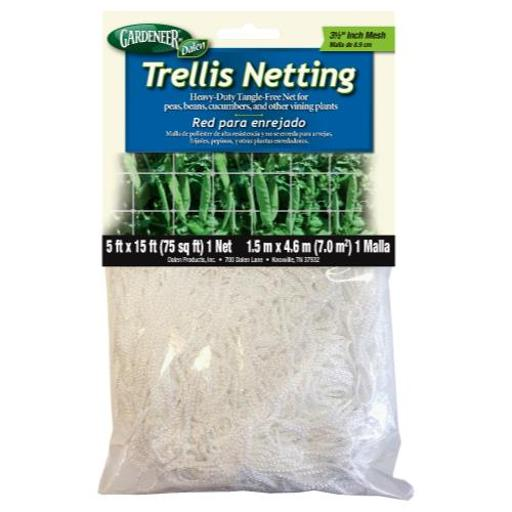 Gardeneer Trellis Netting Gardeneer Trellis Netting 5 ft x 15 ft w/ 3.5 in Holes (12/Cs)
