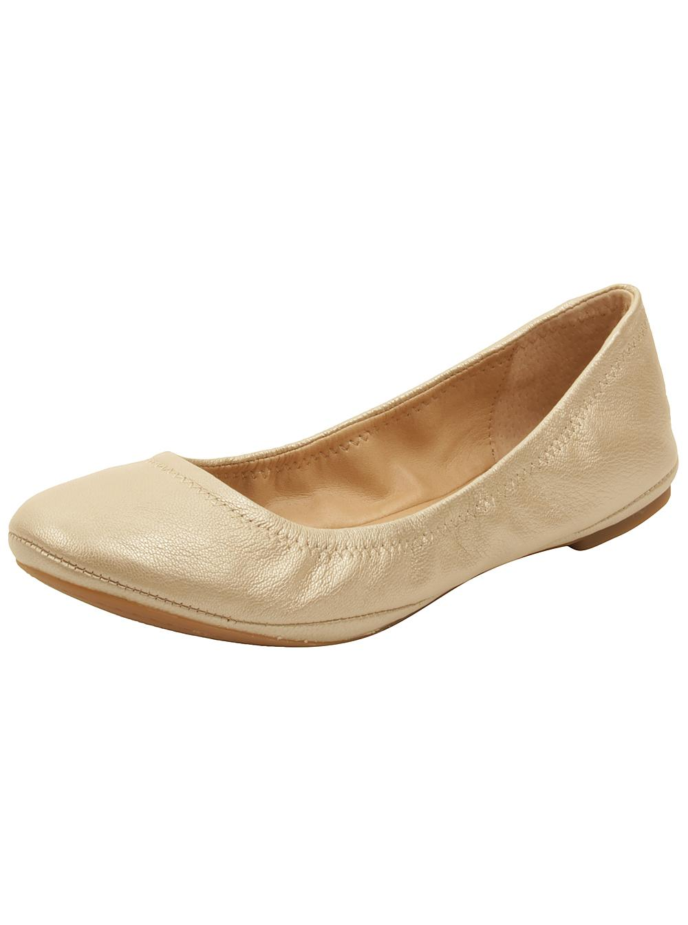 Lucky Brand Womens EMMIE Leather Closed Toe Slide Flats