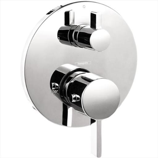 Hansgrohe 4231000 S Thermostatic 2-Handle Shower Valve Trim Kit with Volume Control and Diverter in Chrome