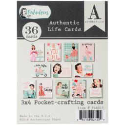 "Fabulous Authentic Life Cards-pocket Crafting & Journaling 3""x4"" Cards"