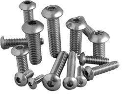 Bolt Buttonhead Action Stainless 6x12mm 20pc