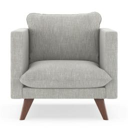 NyeKoncept 50170144 Jaedyn Armchair Twilled Weave - Cloud Gray with Walnut Finish