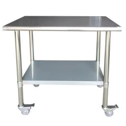 Sportsman Series SSWTWC36 24 x 36 in. Stainless Steel Work Table with Casters