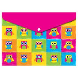 Ashley productions decorated poly folder color owls 90002