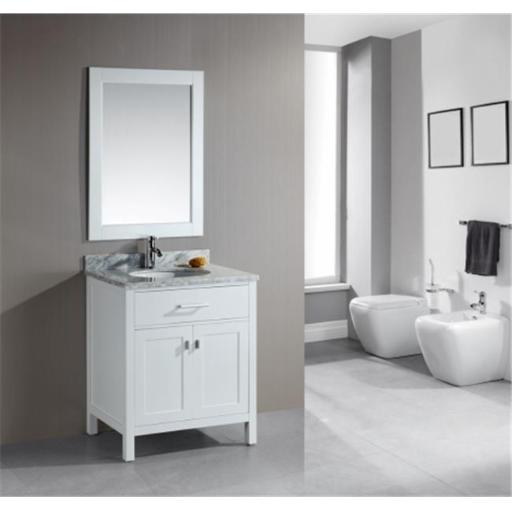 Design Element Group DEC076E-W London 30 in. Single Sink Vanity Set in White