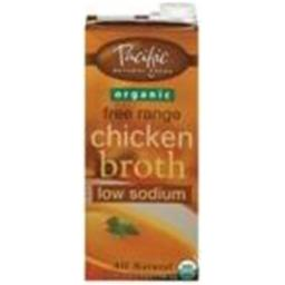Pacific Natural Foods 32183 Pacific Natural Chicken Low Sodium Broth - 12x32 Oz