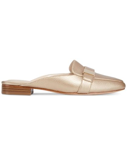 Alfani Womens Aidaa Leather Square Toe Mules
