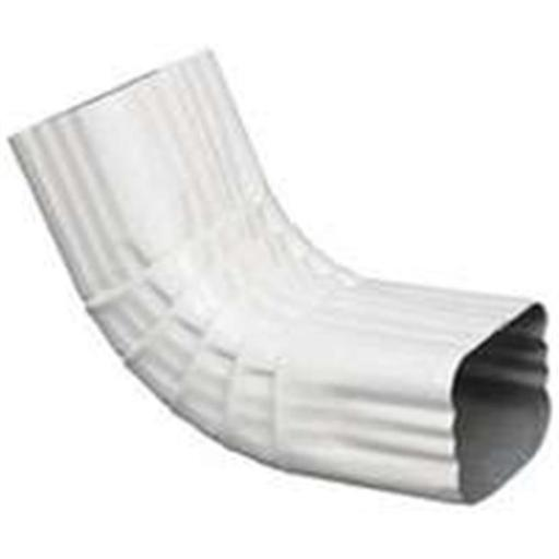 27064 Aluminum Gutter Elbow - White