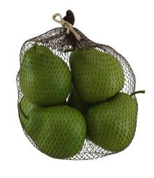 Artificial Green Pears Decorative Faux Fruit Set of 6