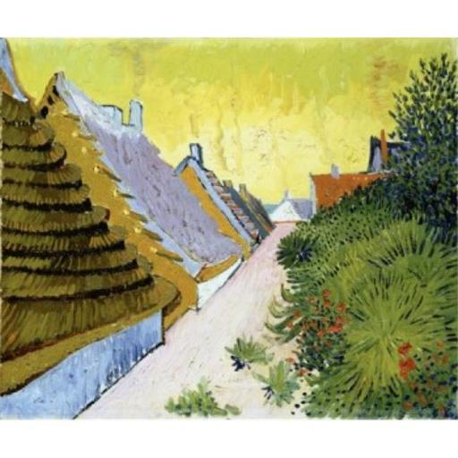 Posterazzi SAL900141988 Street in Saintes-Maries Mas a Saintes-Maries 1888 Vincent Van Gogh 1853-1890 Dutch Oil on Canvas Poster Print - 18 x 24 in.