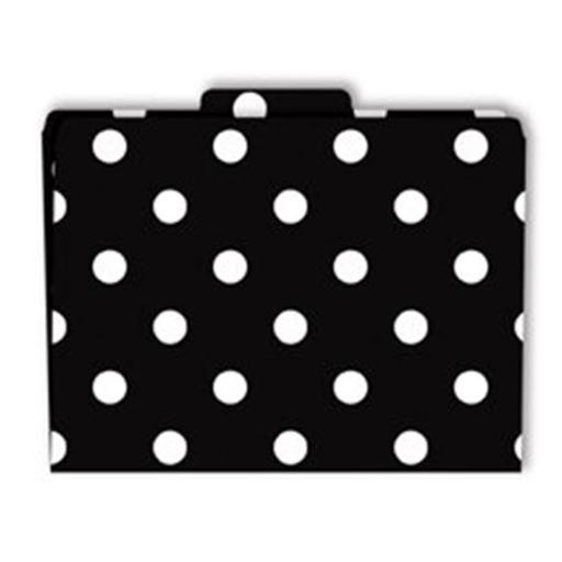 File Folders Black & White Dots Functional File Folders