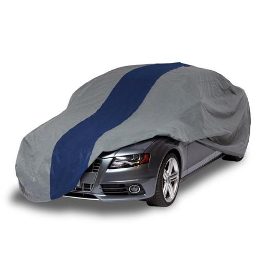 Classic Accessories A2C170 Duck Double Defender Car Cover for Sedans up to 14 ft, Grey & Navy Blue ED3IJUA6GJZTEAHB