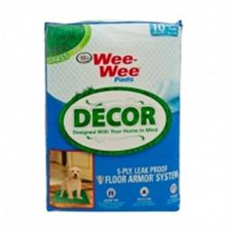 Fourp 456626 Wee Wee Pads Decor Grass - 10 Count