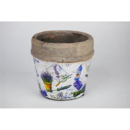 100 Essentials 8404211 Medium size flower pot patchwork