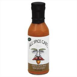 ALL SPICE CAFE SAUCE CHIPOTLE GARLIC MED-12 OZ -Pack of 6