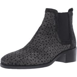 Kenneth Cole Reaction Womens Salt  Leather Shimmer Chelsea Boots
