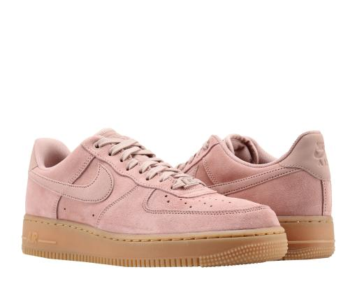 3d1690c520c5 Nike Air Force 1  07 LV8 Suede Pink Gum Men s Basketball Shoes AA1117-600