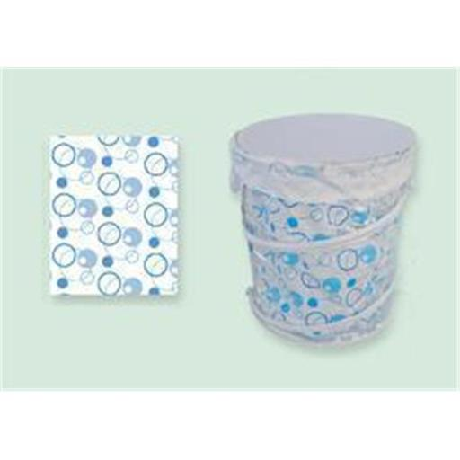Sassy Sacks for Trash SS1003 - 8 blue Designer trash can liners with additional uses - Pack of 6