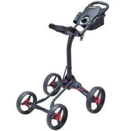 Bag Boy Bb71501 Quad Xl Push Cart - Matte Black & Red