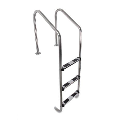 ARKSEN In-ground Swimming Pool Non-Skid Stainless Steel 3 Step Ladder Heavy Duty