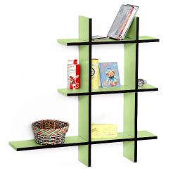 Green Valley-A Leather Cross Type Shelf / Bookshelf / Floating Shelf (5 pcs)