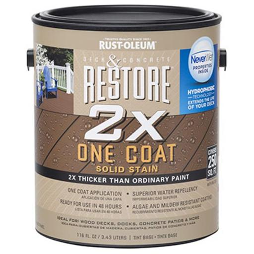 Rust-Oleum 287523 Deck & Concrete Resurfacer With Never Wet, Solid Stain - Pack Of 2
