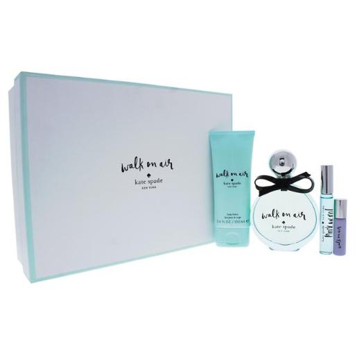 Kate Spade 2H17 Walk On Air By Kate Spade For Women - 4 Pc Gift Set 3.4Oz Edp Spray, 3.4Oz Body Lotion, 0.34Oz Edp Rolle