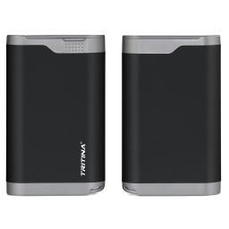 Tritina Portable Power Bank 7800mah Rainproof Dust Proof Cover Dual USB Port External Battery Charger, LCD Indicator,for Apple Iphone, Ipad and Other Cell Phones and Tablets(Black)